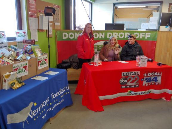 Feed A Family event with My Champlain Valley News stations