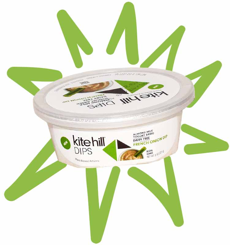Kite Hill vegan french onion dip