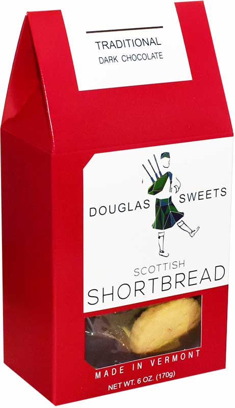Douglas Sweets traditional dark chocolate dipped shortbread