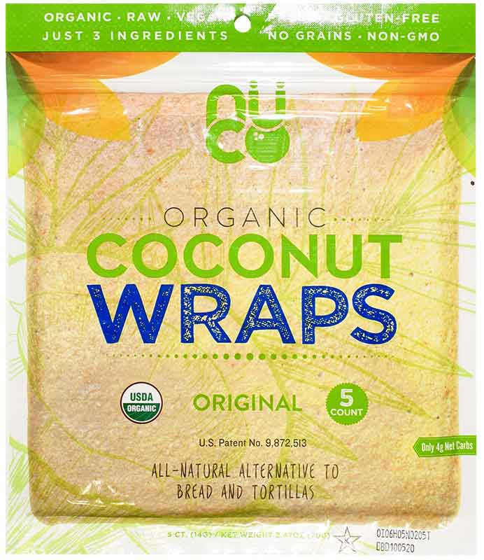 Nu Co coconut tortilla-style wraps