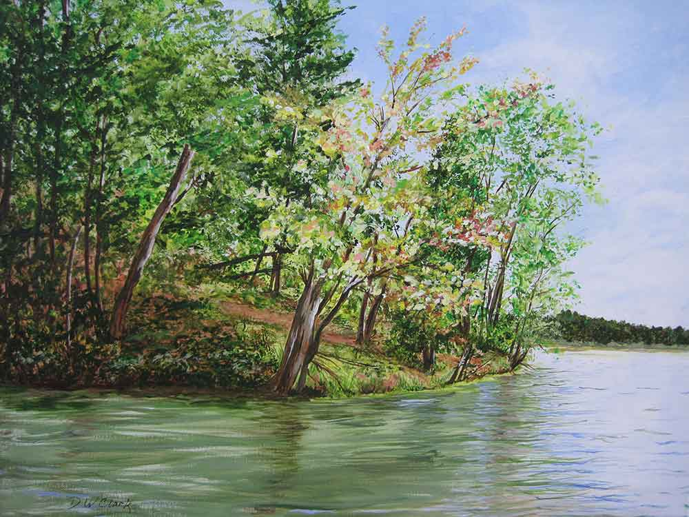 Denise Clark painting of Green River Reservoir
