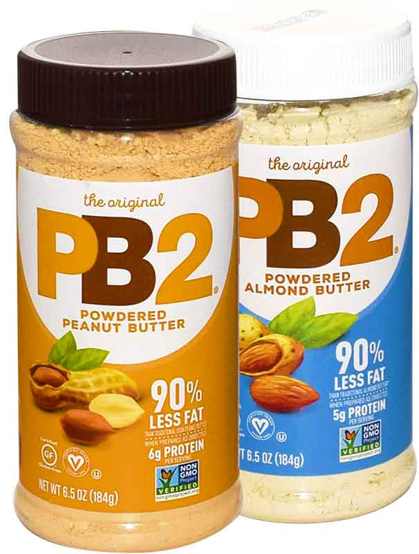 PB2 powered nut butters